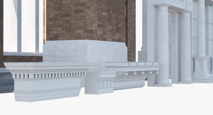 Colección de elementos de arquitectura grecorromana royalty-free modelo 3d - Preview no. 7