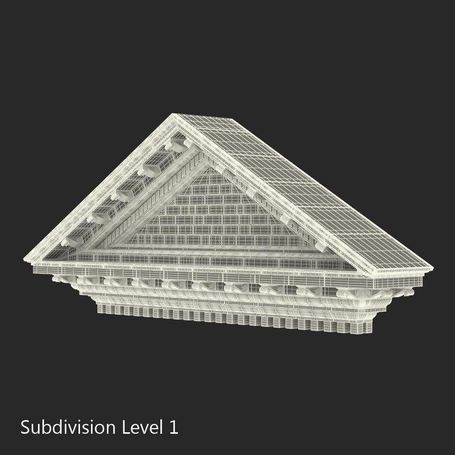 Colección de elementos de arquitectura grecorromana royalty-free modelo 3d - Preview no. 29
