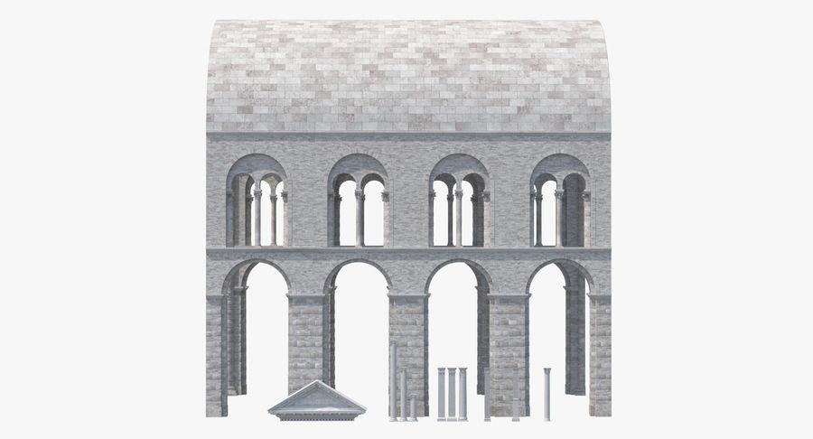 Colección de elementos de arquitectura grecorromana royalty-free modelo 3d - Preview no. 3