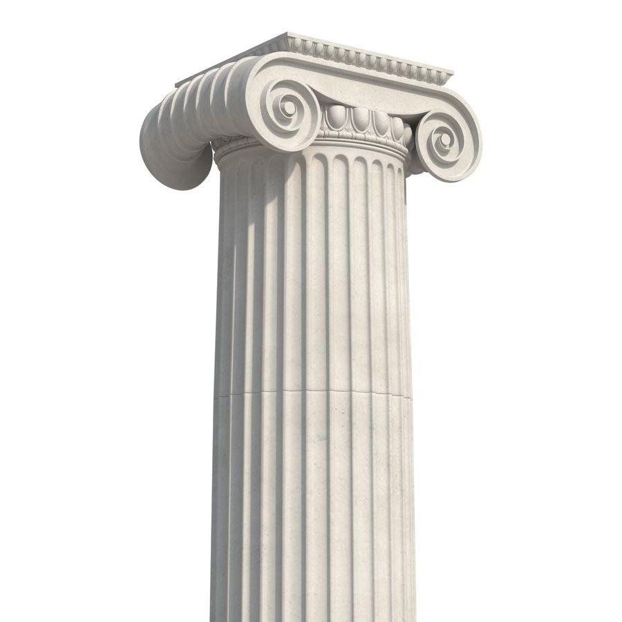 Colección de elementos de arquitectura grecorromana royalty-free modelo 3d - Preview no. 15