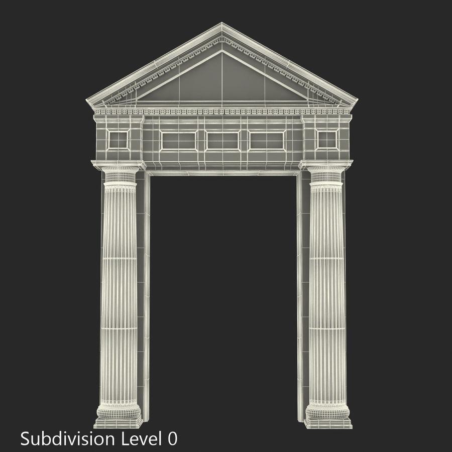 Colección de elementos de arquitectura grecorromana royalty-free modelo 3d - Preview no. 42