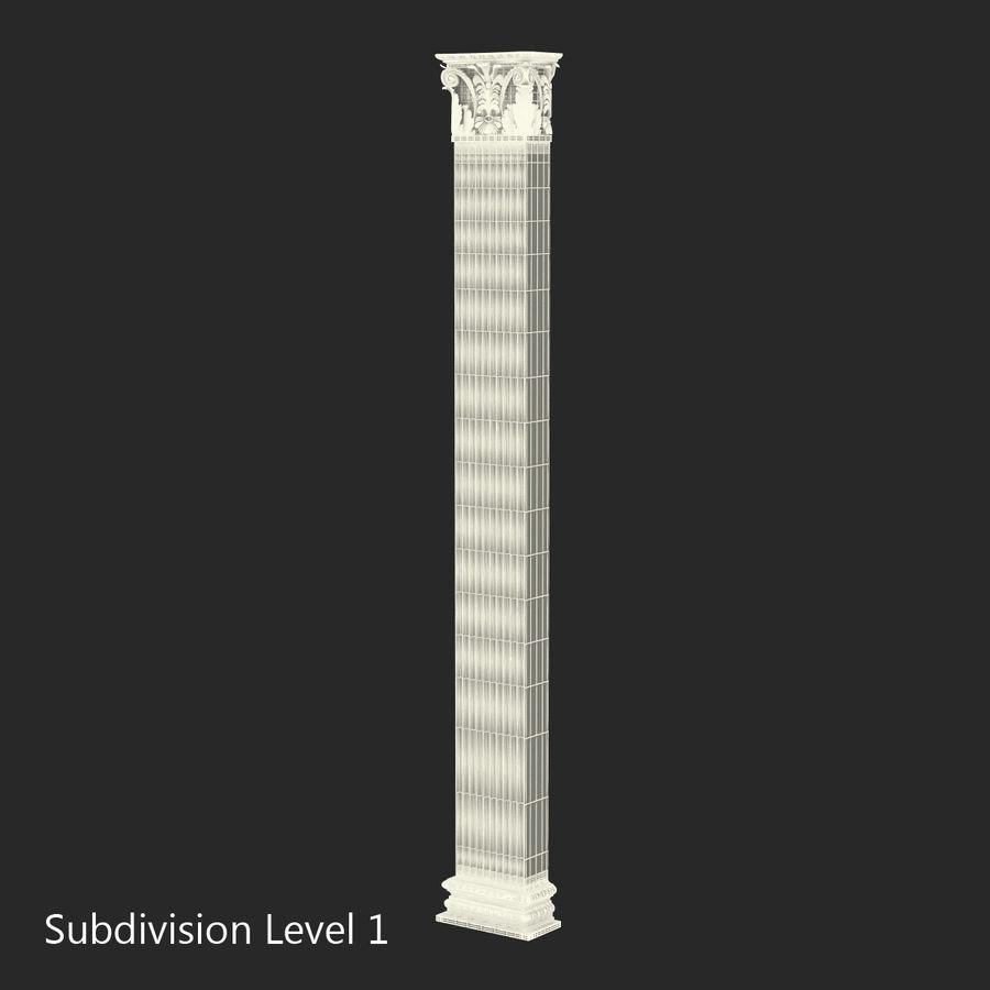 Colección de elementos de arquitectura grecorromana royalty-free modelo 3d - Preview no. 35