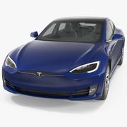 Tesla Model S 90D 2017 3D模型 3d model