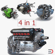 Piston Aircraft Engines 3D Models Collection 3 3d model