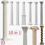 Columns Collection 4 3d model