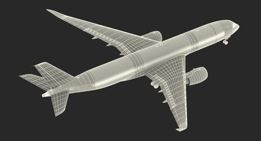 Airbus A350-900 Lufthansa royalty-free 3d model - Preview no. 28