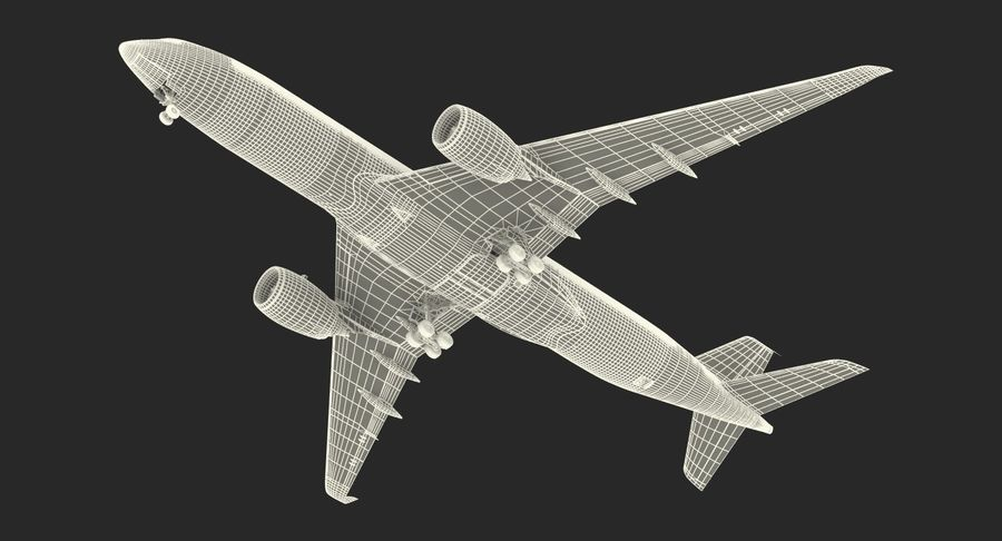 Airbus A350-900 Lufthansa royalty-free 3d model - Preview no. 29