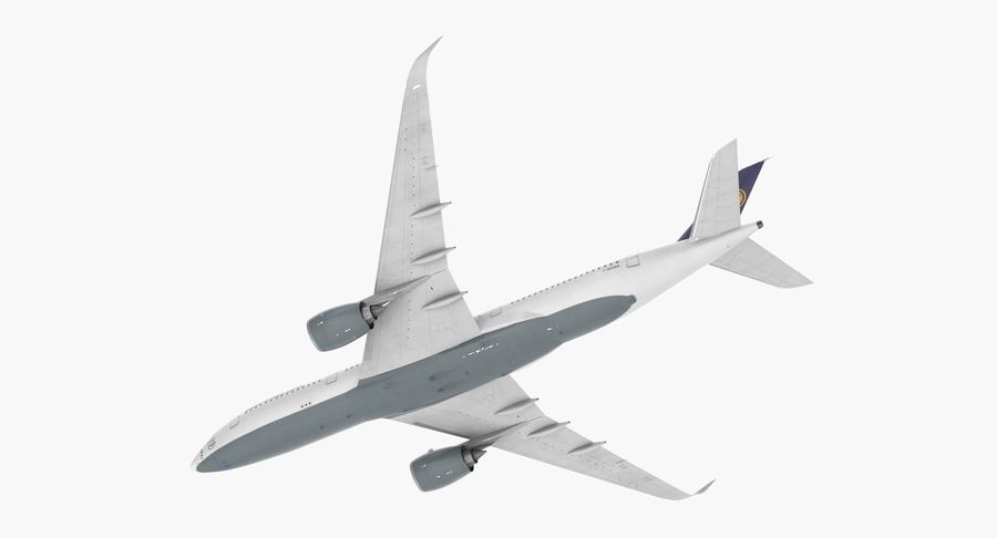 Airbus A350-900 Lufthansa royalty-free 3d model - Preview no. 11