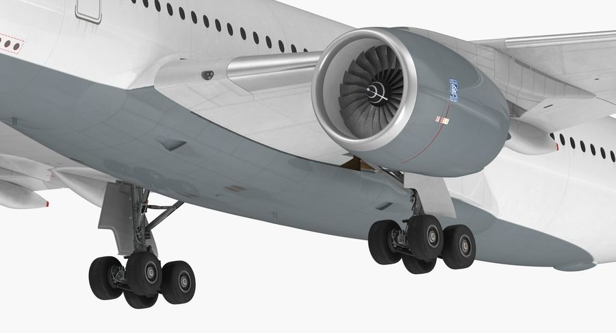 Airbus A350-900 Lufthansa royalty-free 3d model - Preview no. 18