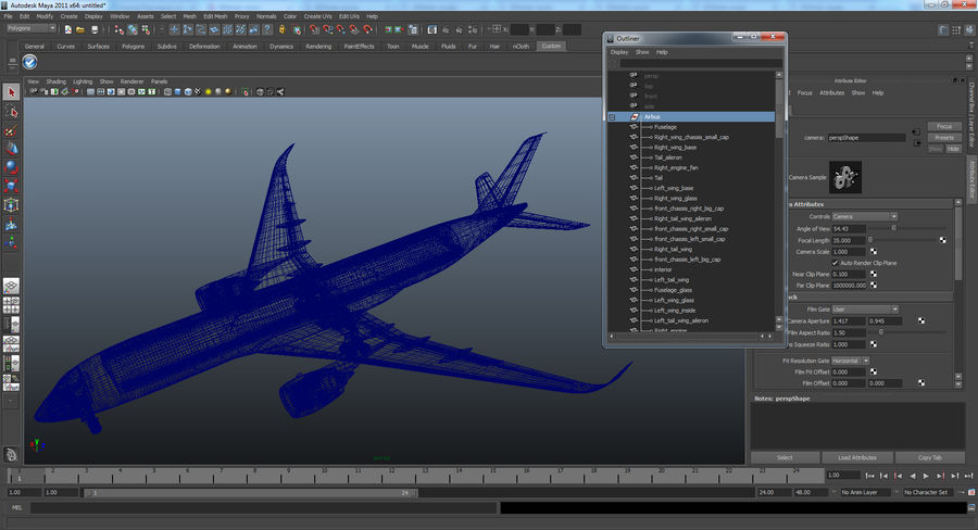 Airbus A350-900 Lufthansa royalty-free 3d model - Preview no. 25
