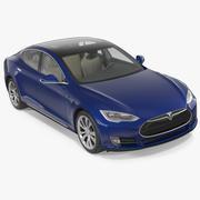 Tesla Model S 75D 2015 3D模型 3d model