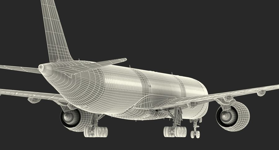Airbus A350-1000 Qatar royalty-free 3d model - Preview no. 31
