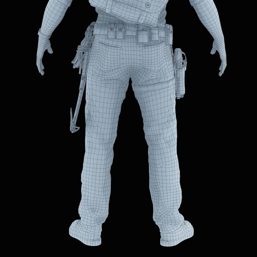 Hero Soldier royalty-free 3d model - Preview no. 38