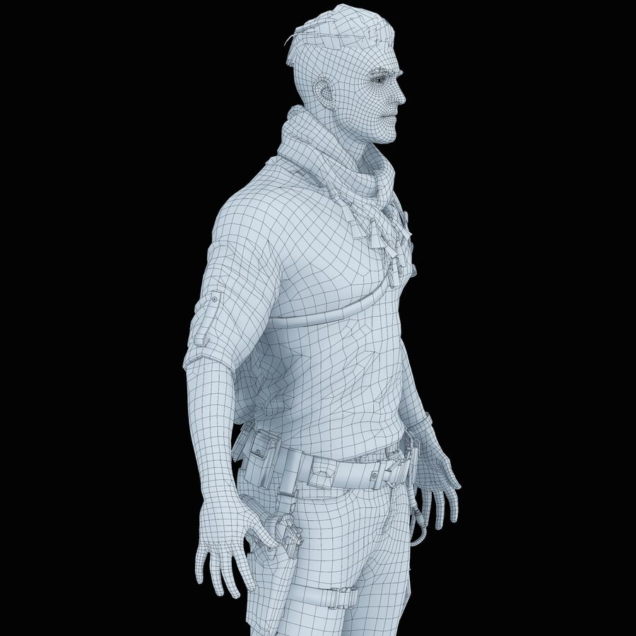 Hero Soldier royalty-free 3d model - Preview no. 41