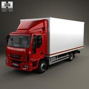 依维柯EuroCargo厢式货车2013 3d model