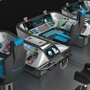 Panneau de contrôle de bord 3d model