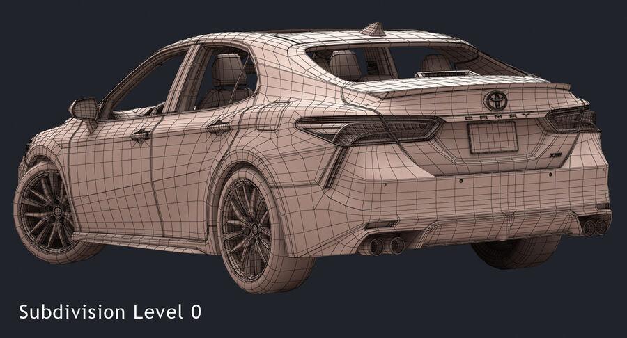 2018 도요타 캠리 royalty-free 3d model - Preview no. 17