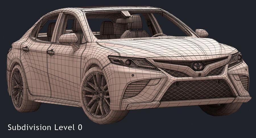 2018 도요타 캠리 royalty-free 3d model - Preview no. 16