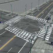 ニューヨーク市の通りと要素 3d model