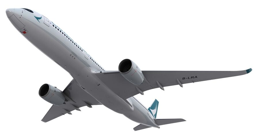 A350-900 - Cathay Pacific royalty-free 3d model - Preview no. 16
