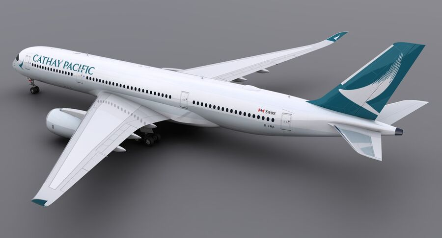 A350-900 - Cathay Pacific royalty-free 3d model - Preview no. 6