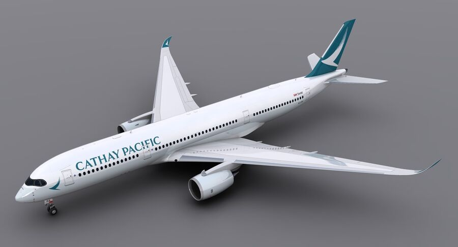 A350-900 - Cathay Pacific royalty-free 3d model - Preview no. 5