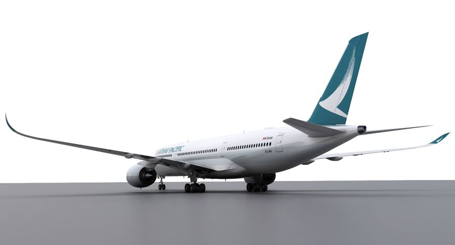 A350-900 - Cathay Pacific royalty-free 3d model - Preview no. 13