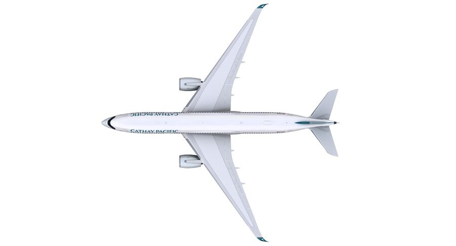 A350-900 - Cathay Pacific royalty-free 3d model - Preview no. 15