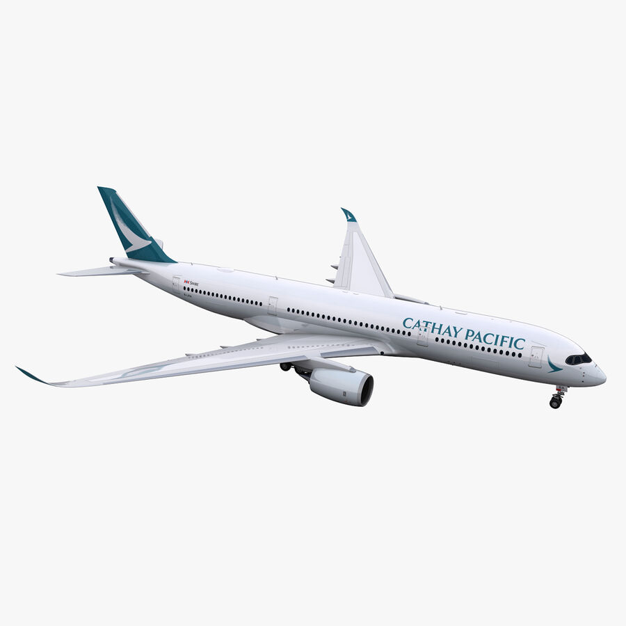 A350-900 - Cathay Pacific royalty-free 3d model - Preview no. 1
