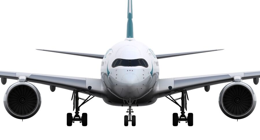 A350-900 - Cathay Pacific royalty-free 3d model - Preview no. 18