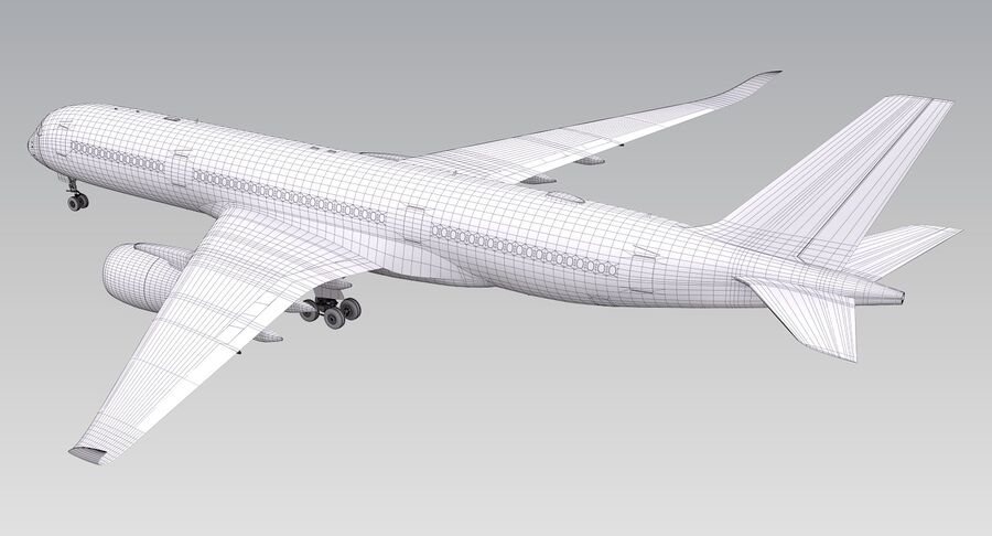 A350-900 - Cathay Pacific royalty-free 3d model - Preview no. 21