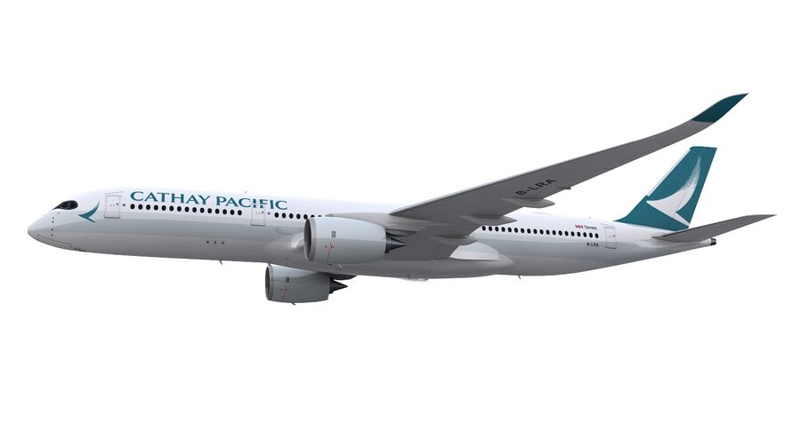 A350-900 - Cathay Pacific royalty-free 3d model - Preview no. 17