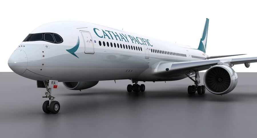 A350-900 - Cathay Pacific royalty-free 3d model - Preview no. 12
