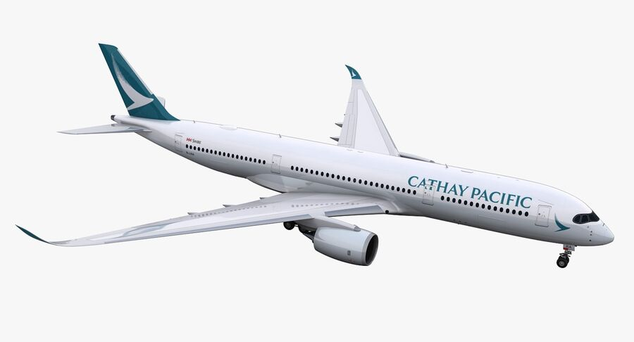 A350-900 - Cathay Pacific royalty-free 3d model - Preview no. 2