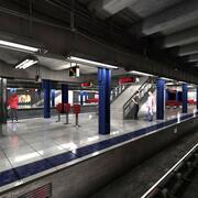 NY tunnelbana 3d model