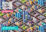 Ultimate Low Poly Megapolis (Stadt + Vororte) Pack 1 3d model