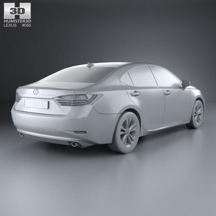 レクサスES 2013 royalty-free 3d model - Preview no. 12