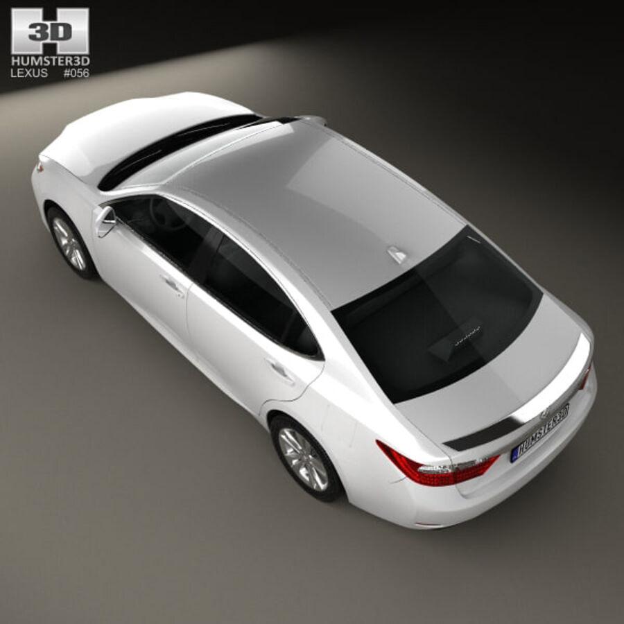 レクサスES 2013 royalty-free 3d model - Preview no. 9