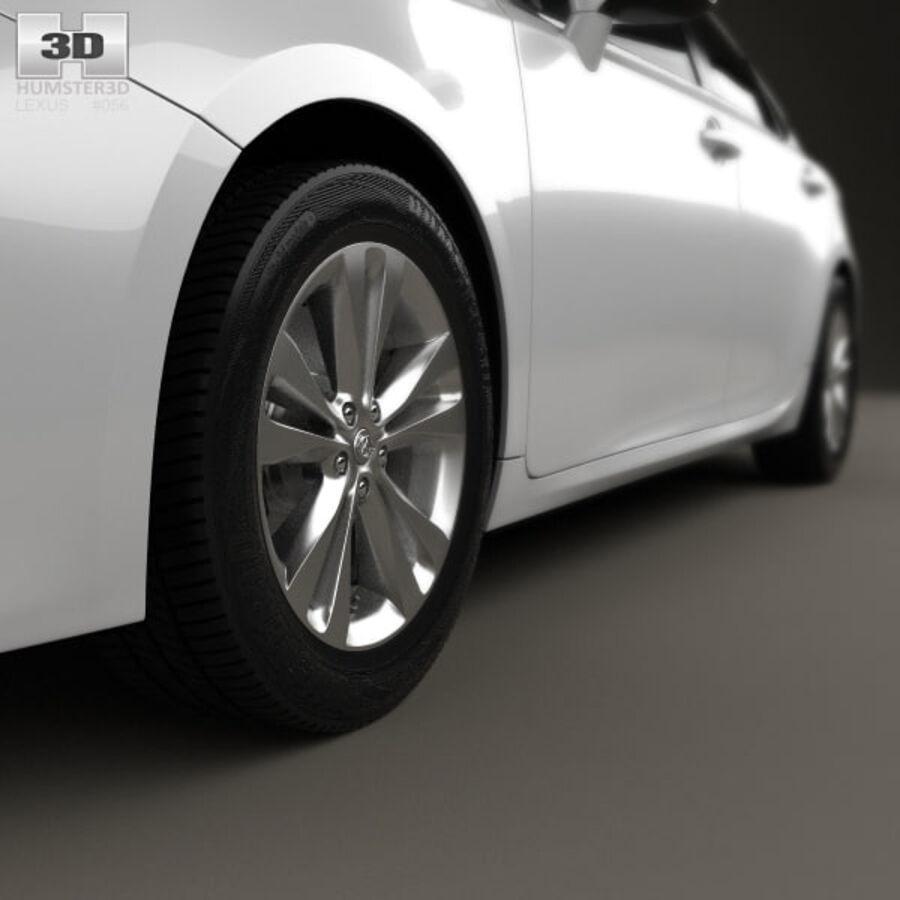 レクサスES 2013 royalty-free 3d model - Preview no. 8