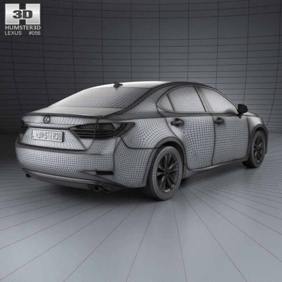 レクサスES 2013 royalty-free 3d model - Preview no. 4