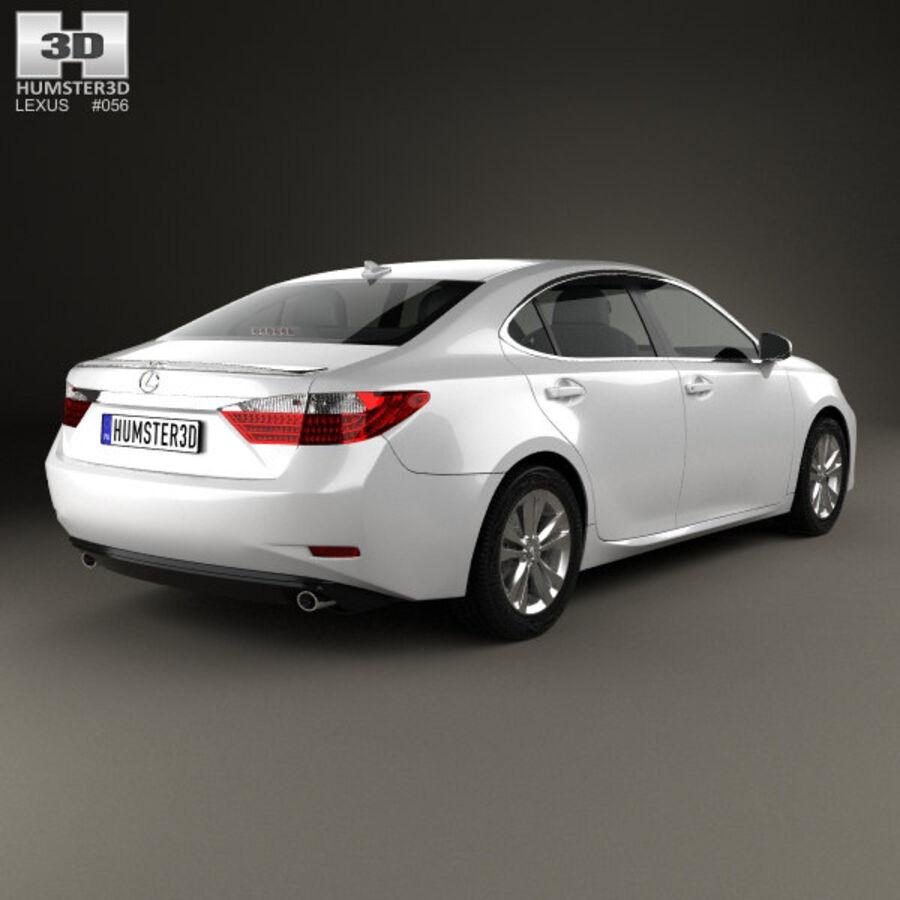 レクサスES 2013 royalty-free 3d model - Preview no. 2