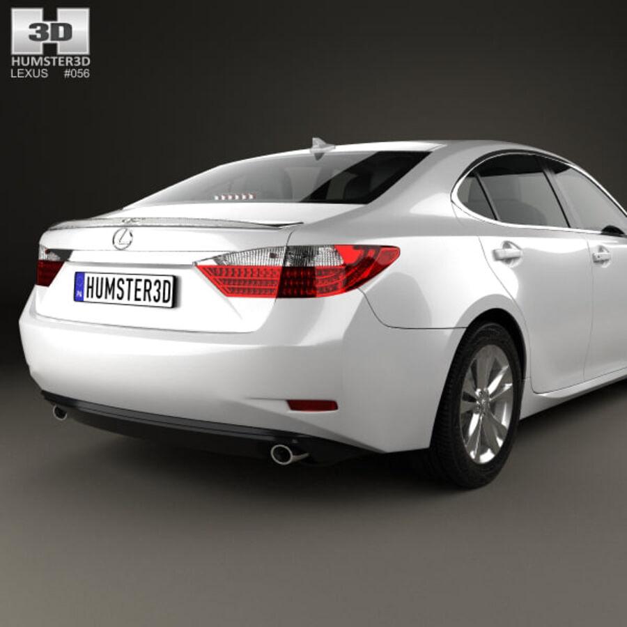 レクサスES 2013 royalty-free 3d model - Preview no. 7
