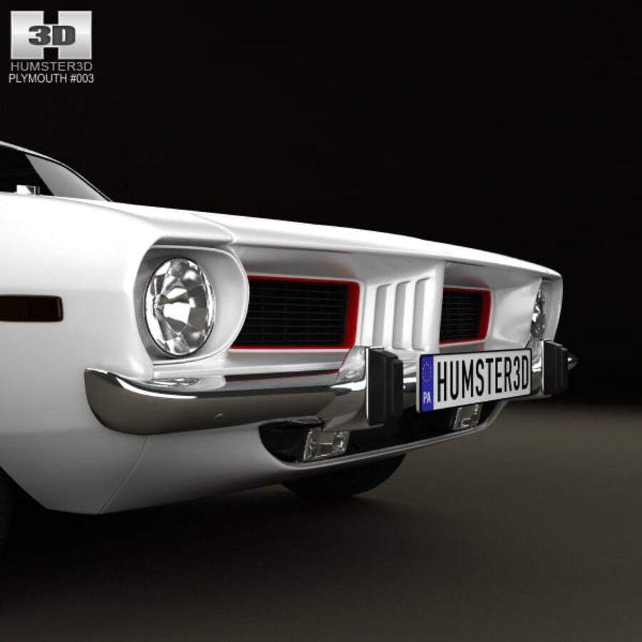Жесткая крыша Plymouth Barracuda 1974 royalty-free 3d model - Preview no. 12