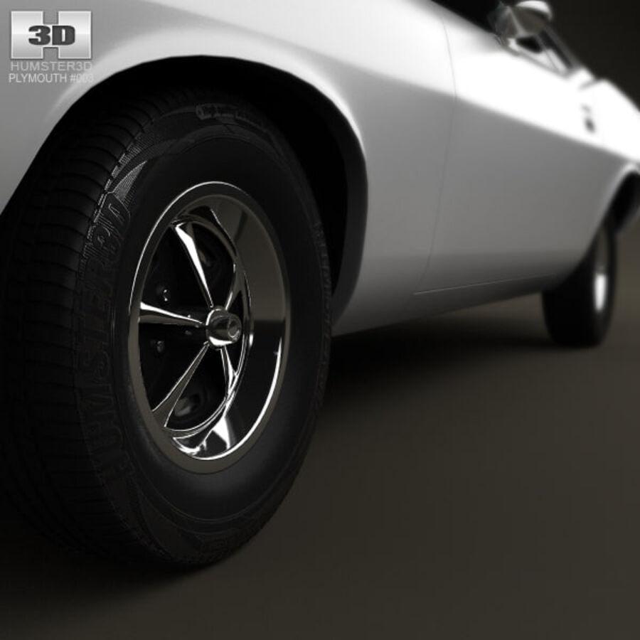 Жесткая крыша Plymouth Barracuda 1974 royalty-free 3d model - Preview no. 11