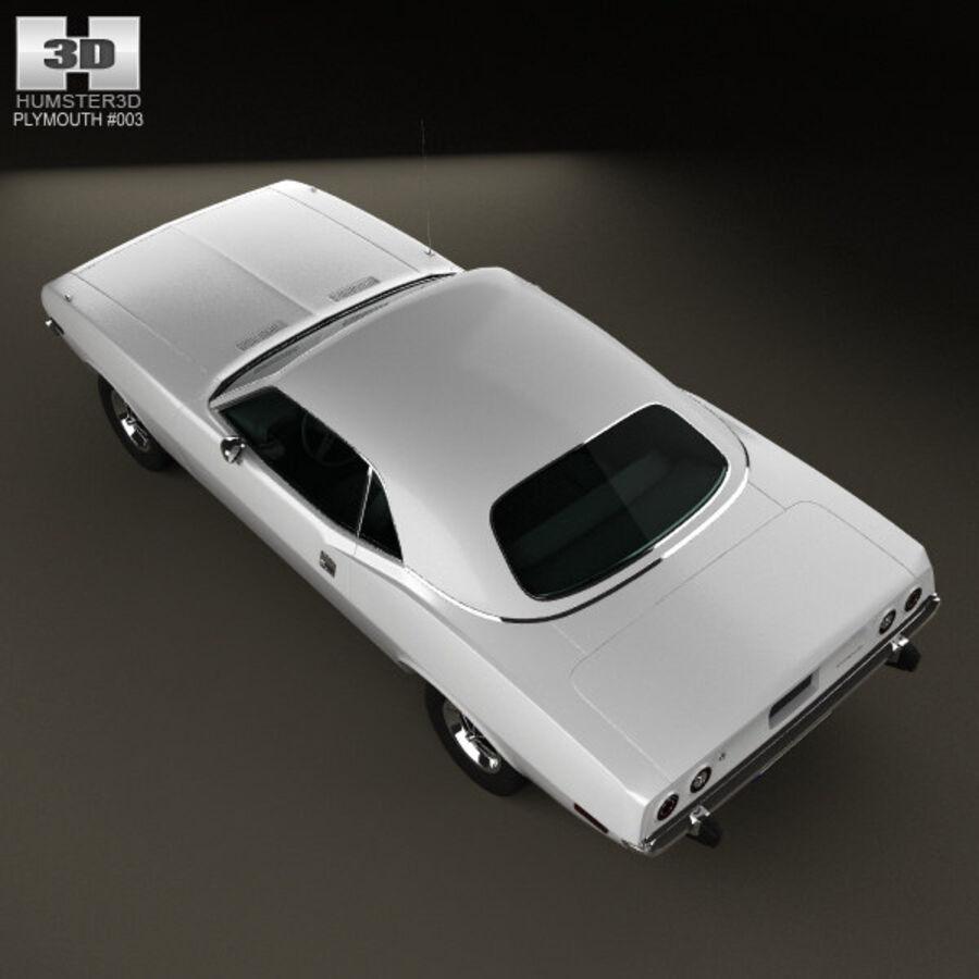 Жесткая крыша Plymouth Barracuda 1974 royalty-free 3d model - Preview no. 10