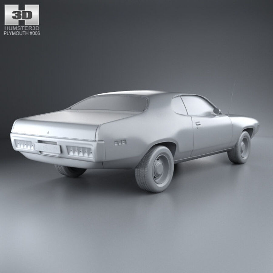 Plymouth Satellite 1971 royalty-free 3d model - Preview no. 12