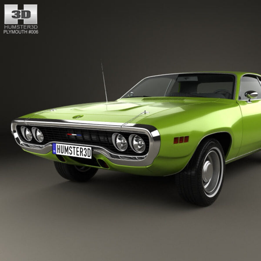 Plymouth Satellite 1971 royalty-free 3d model - Preview no. 6