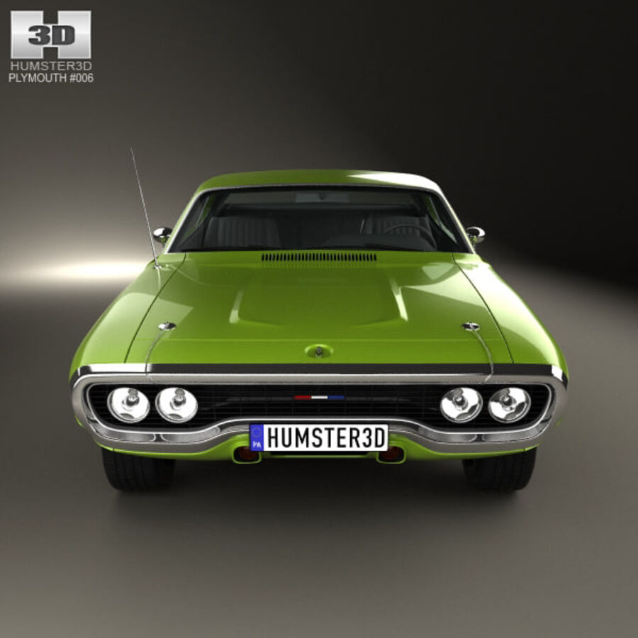 Plymouth Satellite 1971 royalty-free 3d model - Preview no. 10
