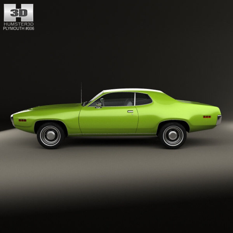 Plymouth Satellite 1971 royalty-free 3d model - Preview no. 5