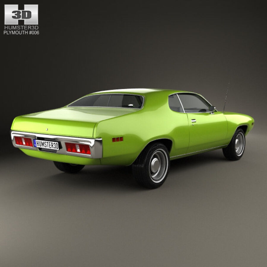 Plymouth Satellite 1971 royalty-free 3d model - Preview no. 2